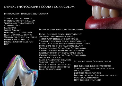 We typically conduct 2 day / 3 day complete hands on photography workshops.